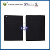 Black PU leather stand screen protector for ipad mini case