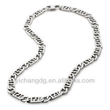 2015 Men's Stainless Steel Fancy Curb-Link 24 Inch Necklace ,Fashion Necklace