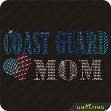 Professional Supplier Coast Guard MOM rhinestones wholesale In China