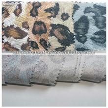fancy leopard printed shoes PVC leather T9093