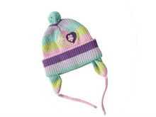 Fshion baby winter 100% cotton knitted cap and hat