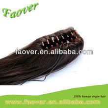human hair claw ponytail
