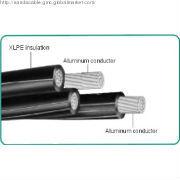 Quadruplex low voltage twisted abc cable