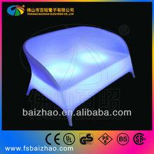 LED lighting PE Two seats sofa outdoor