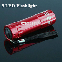 Hot sale mini pocket handheld led torch 9 led promotional flashlight
