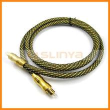 Digital optical fiber, audio fiber optic cable, toslink, golden plated
