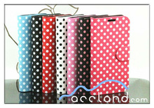 Polka Dot Leather Card Holder Wallet Case for Samsung Galaxy S4
