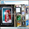 Mejor a4 marco deimagen/doble cara caja de luz con marco de cristal para la barra y los signos de la publicidad