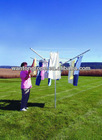Free Standing 4 Arm Outdoor Rotary Clothes Airer