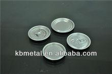fácil de abrir carbonatadas de aluminio tapa de la lata