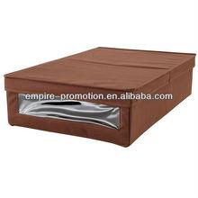 brown canvas underbed storage box