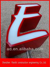 Frontlit led sign board illuminated acrylic letter
