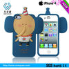 Animal design Protective silicone case for iphone 4/4s