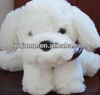 2013 hot sales white cute dog plush toy