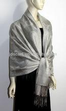 70% pashmina 30% silk scarf JDC-264 LATEST 50% viscose+50% acrylic multicolor pamshmina scarf
