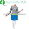 Vestido de la señora 70% 30% de lana de cachemira falsos dos- piezas suéter de verano dresss para la niña