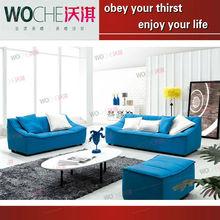 fashionable high class Mediterranean classic blue fabric sofa(WQ8806)