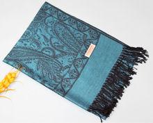 pashmina rayon shawls TSV-006 LATEST 50% viscose+50% acrylic multicolor pamshmina scarf