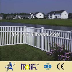 White Color PVC Semi-Privacy Portable Dog Fence