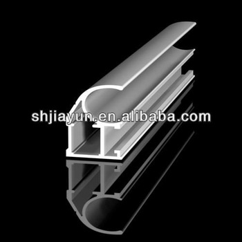 curved aluminium extrusion with different surface treatment as per your drawings