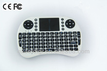 portable 3d 2.4ghz mini wireless keyboard with touchpad
