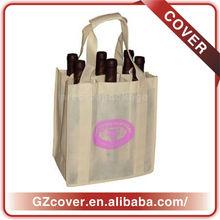 India hem wine bag thinner canvas beverage bottle shopping bag