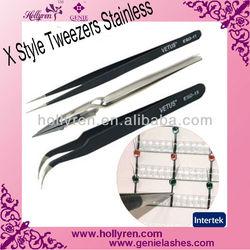 X Tweezers,Stainless Tweezer for Eyelash Extensions Accessories