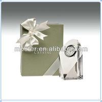 Laser Cut Wedding Favor Crystal Clock For Guests Giveaways