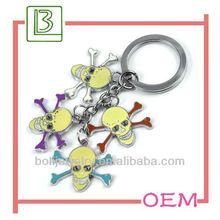 Fashion Halloween keyring/skull keychain/metal key chain