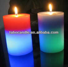 led candles with real flame/bulk led candle