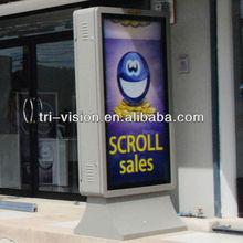 scrolling aluiminium billboards lightbox outdoor advertising