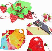 strawberry nylon folding reusable bags,strawberry folding bag,polyester nylon foldable bag