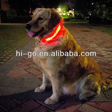 100% nylon water-proof LED dog collar