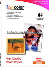 Imacolor Waterproof microporous 260gsm rc glossy photo paper for digital printing