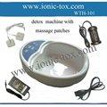 el equilibrio del cuerpo de la máquina de desintoxicación con gafas de masaje de eliminación de toxinas de baño de pies