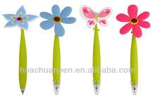 novelty pen flower on the top