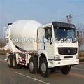 6x4/8m3 nouveau camion malaxeur de béton camion malaxeur