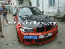 11-12 Year Carbon fiber hood /bonnet revozport Style For BMW 1 Series M