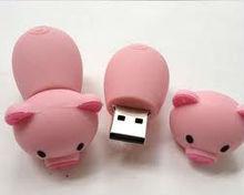 cute cartoon pink pig usb pen drive flash disk