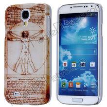 Leonardo Da Vinci Painting The Virtruvian Man Pattern Hard Case for Samsung Galaxy S4 SIV I9500