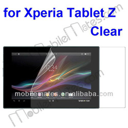 High Quality Clear Screen Protector for Snoy Xperia Tablet Z, Transparent Clear Screen Protector Guard Film
