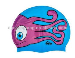 New Junior Fun Swim Silicone Pool Cap Kids Swimming Hat - Jen Jen Jellyfish, Funny Silicone Cap, Silicone Kids Caps