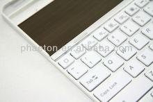 Solar Panel Aluminum alloys Bluetooth Wireless Keyboard for ipad 2 New ipad 3 4 Adjustable Stand