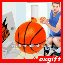 OXGIFT Slam Dunk Toilet Basketball Set