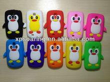 silicon penguin phone case for Samsung Galaxy mini S5570