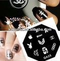 2014 atacado moda 3d nail art adesivos decalques& embalado para a etiqueta do prego