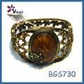nuevo 2013 de oro de la moda de samoa con la pulsera de cristal