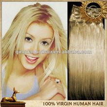 Cheap hair extension wholesale white clip in hair extension