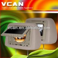 "Monitor lcd con entrada bnc HAV-744 7"" Car Headrest DVD Player USB SD IR FM DivX Game zipper"