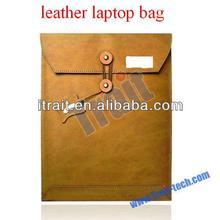 Vertical Genuine Leather Laptop Bag Envelope Bag Interlayer Sleeve Bag.Size:11inch